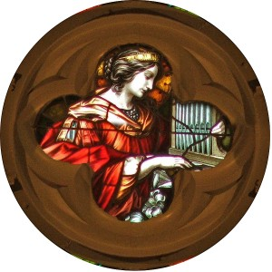 st-cecilia-in-rose-window