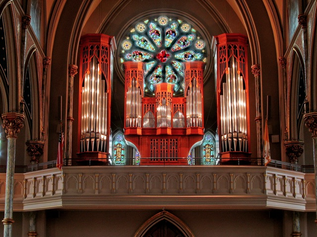 a869f793b Originally built in Georgetown, Massachusetts, The Noack pipe organ was  installed in 1987. The instrument is a tracker organ with 34 ranks and  2,308 pipes.